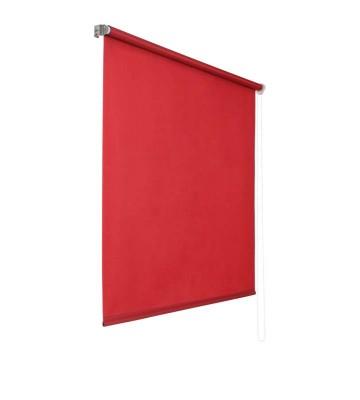 Lichtdurchlaessiges Seitenzugrollo - Rot