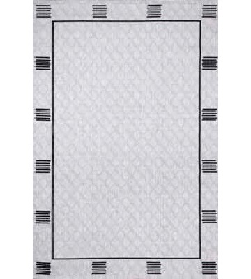 Outdoor Teppich - Border Line (Grau)