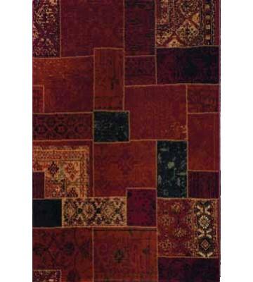 Patchwork Teppich - - Rot