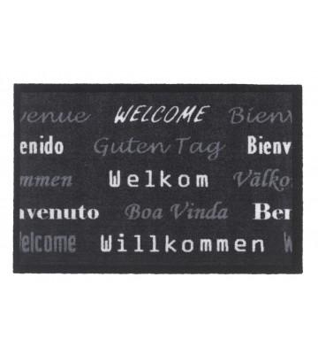 Schmutzfangmatte Willkommen (Schwarz)