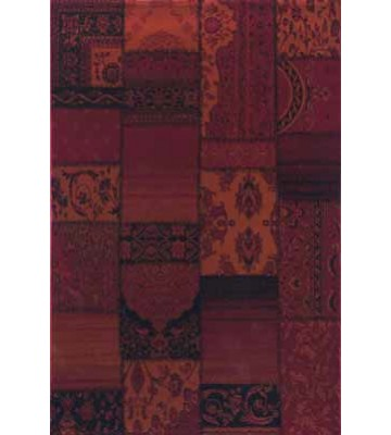 Teppich Patchwork Ornament - (Rot)