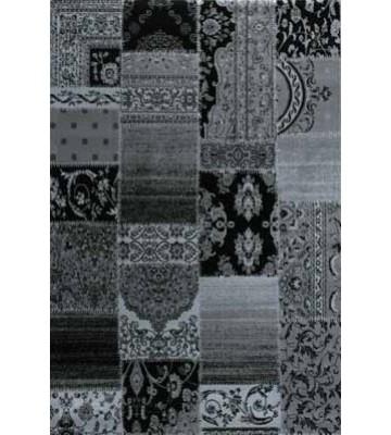 Teppich Patchwork Ornament - (Schwarz)