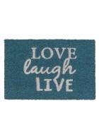 ASTRA Kokosmatte - Coco Glitter Love Laugh Live (Silber)