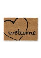 ASTRA Kokosmatte - Coco Smart: Welcome Herz - Rechteckig (Welcome Herz)