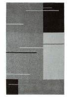 Kurzflor Teppich Samoa - Formen Mix - Grau