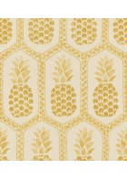 Barbara Becker Roots Ananas Tapete - b.b. VI 862102 by Rasch (Beige)