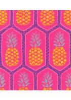 Barbara Becker Roots Ananas Tapete - b.b. VI 862126 by Rasch (Pink)