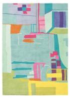 Designer Schurwollteppich Amal 19707 - Bunt