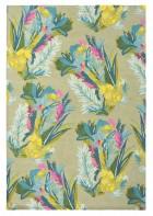 Designer Schurwollteppich Jungle 18307 - Bunt