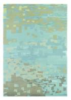 Designer Schurwollteppich Yara Mist 134218 - Hellblau