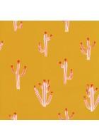 Caselio - Motivtapete Kaktus - SMILE FREE HUGS SMIL69752222 (Hellgelb)