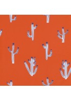 Caselio - Motivtapete Kaktus - SMILE FREE HUGS SMIL69753709 (Orangegelb)