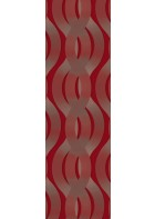 Colani Legend Digitaldruck Panel - Helix (Burgunderrot)