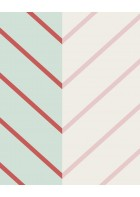 Eijffinger edle Vliestapete Stripes+ 377140 - Zickzack Muster (Grün)