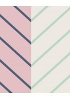 Eijffinger edle Vliestapete Stripes+ 377141 - Zickzack Muster (Rosa)