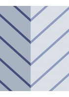 Eijffinger edle Vliestapete Stripes+ 377142 - Zickzack Muster (Blau)