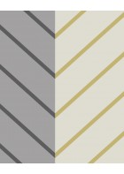 Eijffinger edle Vliestapete Stripes+ 377143 - Zickzack Muster (Grau)