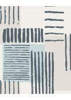 Eijffinger Mustertapete Stripes+ 377131 - Pinselstriche (Blau/Grau)