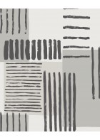Eijffinger Mustertapete Stripes+ 377132 - Pinselstriche (Grau)