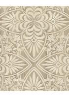 Eijffinger Sundari Vliestapete 375131 - Blumen Ornament (Sand)