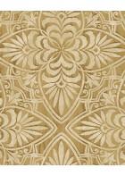 Eijffinger Sundari Vliestapete 375132 - Blumen Ornament (Gelb)