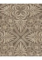 Eijffinger Sundari Vliestapete 375133 - Blumen Ornament (Braun)