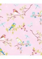 Eijffinger Tapete PIP 4 375082 - Early Bird (Rosa)