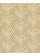 Eijffinger Tapete Stripes+ 377091 - Fischgrätmuster (Beige/Gold)