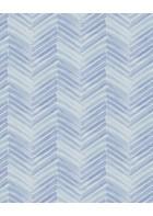 Eijffinger Tapete Stripes+ 377093 - Fischgrätmuster (Blau/Weiß)