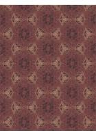Eijffinger Tapeten Panel Siroc 376094 - Boho Flower (Rot/Gold)
