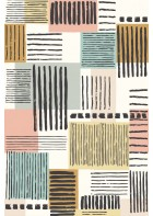 Eijffinger Tapeten Panel Stripes+ 377205 PAINTED PATCHWORK