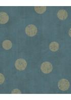 Eijffinger Vliestapete Lino 379044 - Punkte (Blau/Gold)
