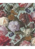 Eijffinger Vliestapete Masterpiece 358003 - Blumen Gemälde (Türkis)