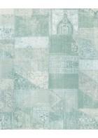 Eijffinger Vliestapete Masterpiece 358033 - Patchwork (Türkis)