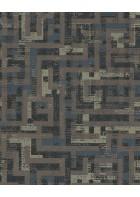 Eijffinger Vliestapete Siroc 376013 - Rechteckmuster (Braun)