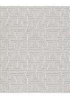 Eijffinger Vliestapete Siroc 376059 - Labyrinth Optik (Weiß/Schwarz)
