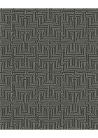 Eijffinger Vliestapete Siroc 376067 - Labyrinth Optik (Schwarz/Weiß)
