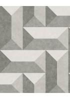 Eijffinger Vliestapete Stature 382573 - Fischgräten 3D (Grau)