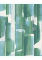 Eijffinger Vliestapete Stripes+ 377000 - breite Pinselstriche (Grün/Blau)