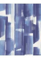 Eijffinger Vliestapete Stripes+ 377001 - breite Pinselstriche (Blau)