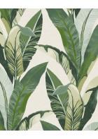 Eijffinger Vliestapete Vivid 384500 - Palmenblätter (Weiß)