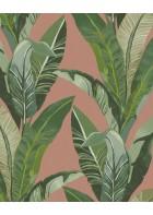 Eijffinger Vliestapete Vivid 384503 - Palmenblätter (Rotbraun)