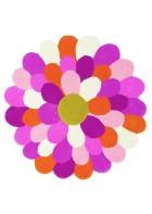 Teppich Funky Flower - Rosa