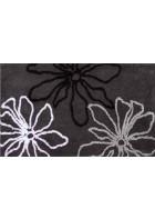 Sonderposten: Badteppich Pure Flowers - Einzelstück: Antrazit, 70x120cm