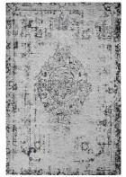 Jaquard Flachgewebe Teppich - Vintage Ornament - Grau