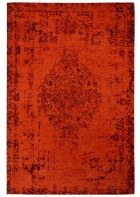 Jaquard Flachgewebe Teppich - Vintage Ornament - Rot