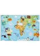 Kinder Spielteppich -Weltkarte