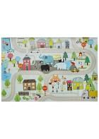 Kinder Straßenteppich - Spielteppich Straße