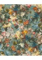 Passepartout Vliestapete 605655 - Blumenbouqet (Blau)
