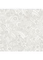 Einzelrolle Cabana Blumen Design Vliestapete - 148613 (Hellgrau)